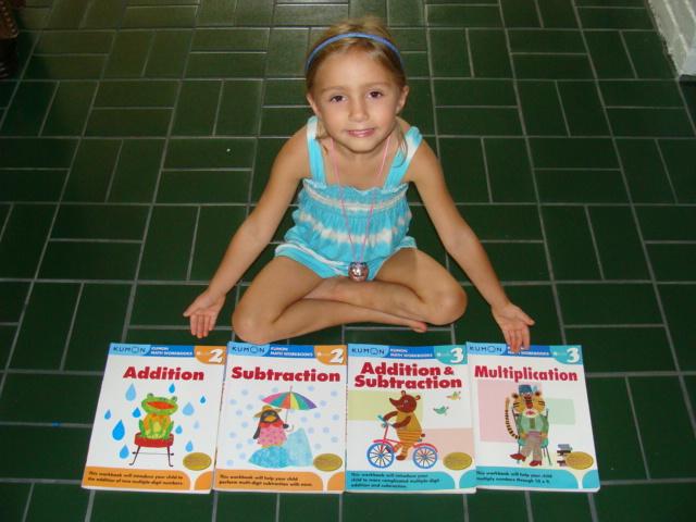 chrissy_with_kumon_math_books