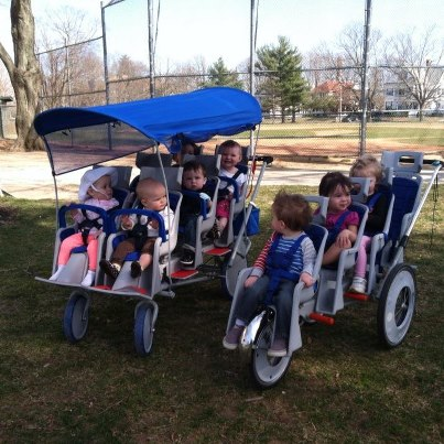 daycare-kids-with-new-stroller